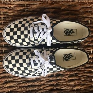 Like New Authentic Checkered Vans